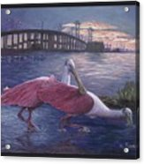 Packery Sunset Acrylic Print