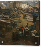 Packing Fish   St Ives Acrylic Print
