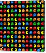 Pacman Seamless Generated Pattern Acrylic Print
