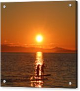 Paddle Boarders Acrylic Print