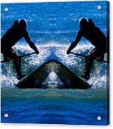 Paddleboarding X 2 Acrylic Print
