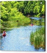 Paddling On A Calm Creek Acrylic Print
