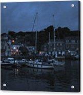 Padstow Harbor At Night Acrylic Print