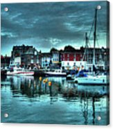 Padstow Harbour At Dusk Acrylic Print