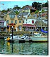 Padstow Harbour Slipway - P4a16023 Acrylic Print