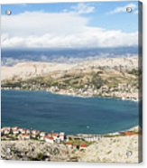 Pag Old Town In Croatia Acrylic Print