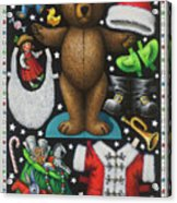 Page 1 Of 2 Teddy Bear Santa Claus Paper Doll Acrylic Print