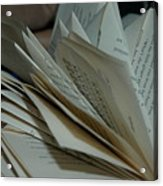 Pages Acrylic Print