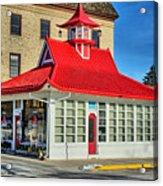 Pagoda Gas Station Acrylic Print