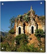 Pagoda In Ruins Acrylic Print