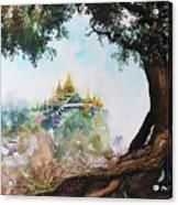 Pagoda On Mountain Acrylic Print
