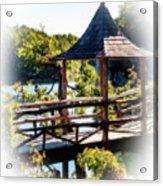 Pagoda Over The Lake Acrylic Print