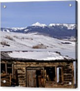 Pagoda Peak In Flat Tops Once Upon A Time Acrylic Print