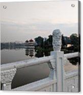 Pagoda Reflection In Chinese Garden Singapore Acrylic Print