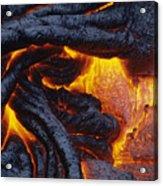 Pahoehoe Lava Texture Acrylic Print