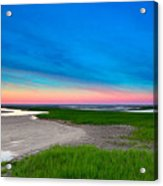 Paines Creek Sunset Cape Cod Acrylic Print