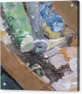 Paint Box Acrylic Print