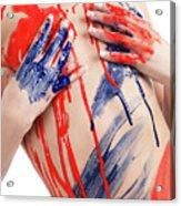 Paint On Woman Body Acrylic Print