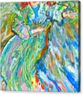 Painted Angel Acrylic Print