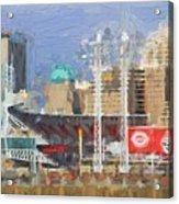 Painted Cincinnati Ohio Acrylic Print