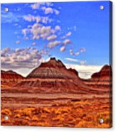 Painted Desert Colorful Mounds 003 Acrylic Print