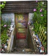 Painted Garden Door Acrylic Print