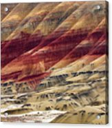 Painted Hills Contour Acrylic Print