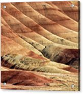 Painted Hills Textures Acrylic Print