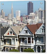 Painted Ladies Of Alamo Square San Francisco California 5d27996v2 Acrylic Print