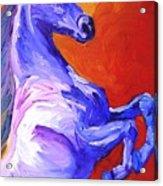 Painted Mustang Acrylic Print