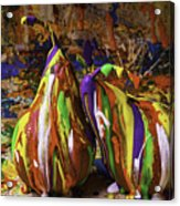 Painted Pears Acrylic Print