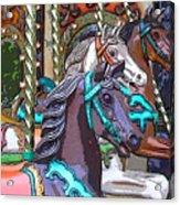 Painted Ponies Acrylic Print