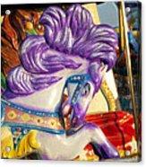 Painted Purple Pony Acrylic Print