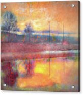 Painted Reflections Acrylic Print
