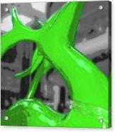 Painted Reindeer Green Acrylic Print