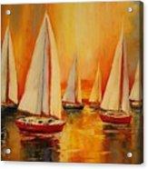 Painted Sails Acrylic Print