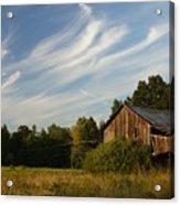 Painted Sky Barn Acrylic Print