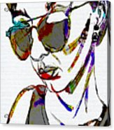 Painted Sunglasses Acrylic Print