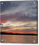 Painted Sunset On Gunflint Lake Acrylic Print