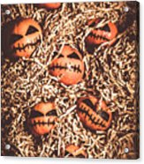 painted tangerines for Halloween Acrylic Print