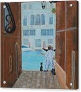Painter In Venice Acrylic Print