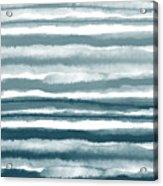 Painterly Beach Stripe 1- Art By Linda Woods Acrylic Print