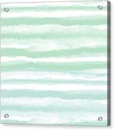 Painterly Beach Stripe 2- Art By Linda Woods Acrylic Print