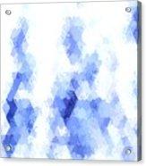 Painterly Geometric Abstract Acrylic Print