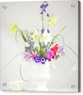 Painterly Homegrown Floral Bouquet Acrylic Print