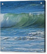 Painterly Waves Acrylic Print