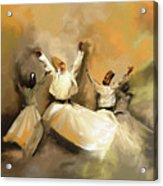 Painting 717 1 Sufi Whirl 3 Acrylic Print