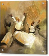 Painting 717 2 Sufi Whirl 3 Acrylic Print
