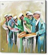 Painting 800 1 Hunzai Musicians Acrylic Print