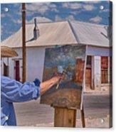 Painting Barrio Viejo Acrylic Print